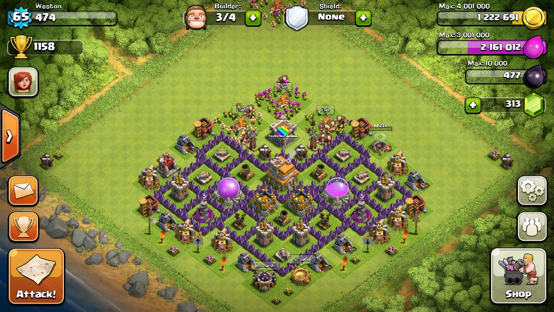 Clash Of Clans Town Hall Level 7 Trophy Base Trophy. #3 defensive base