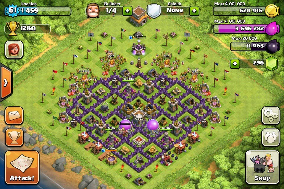 Clash of clans tips town hall level 8 layouts
