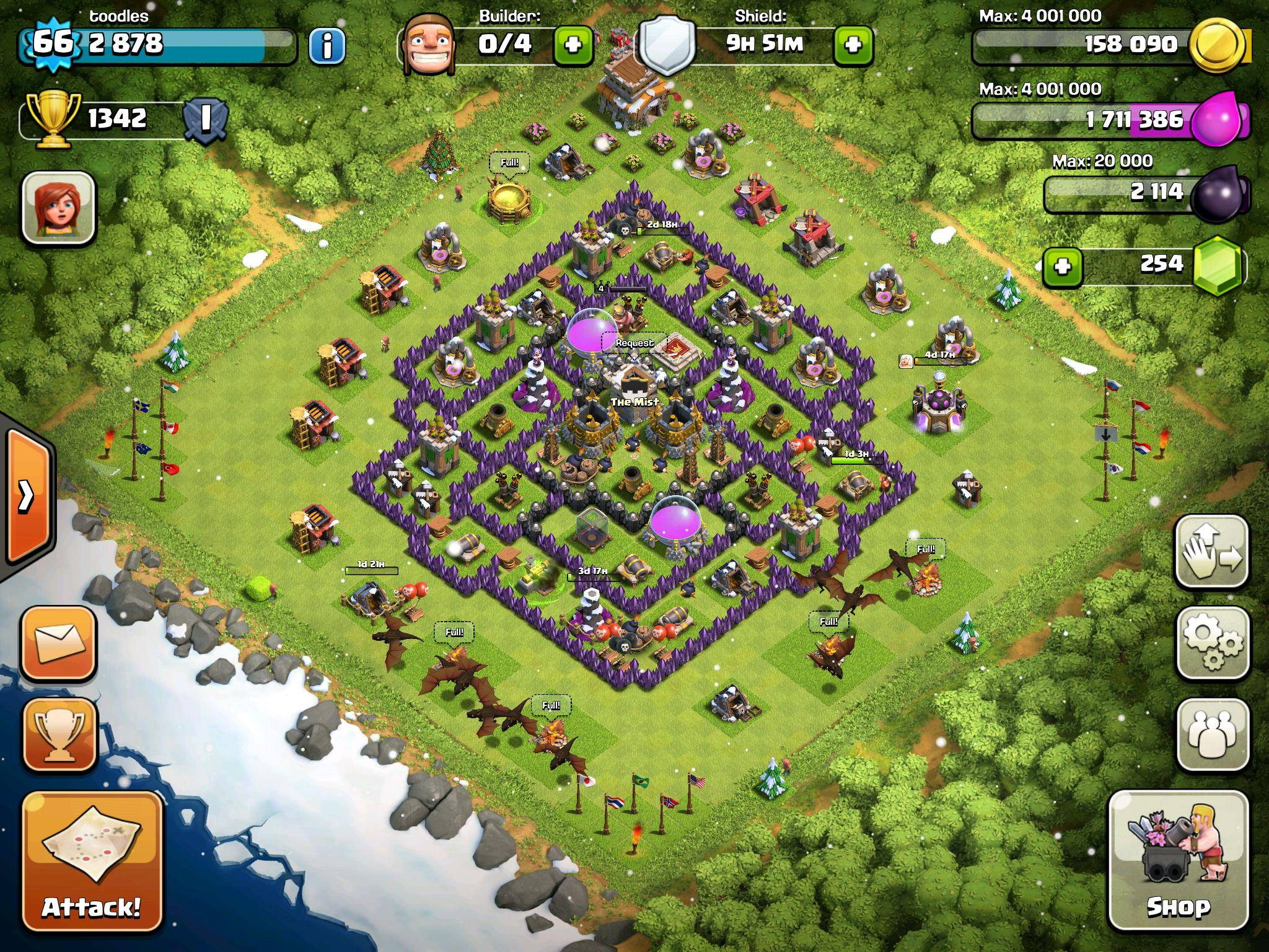 Town Hall Level 8 Farming Base