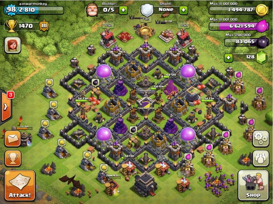 Clash of Clans Tips : Town Hall level 9 Layouts