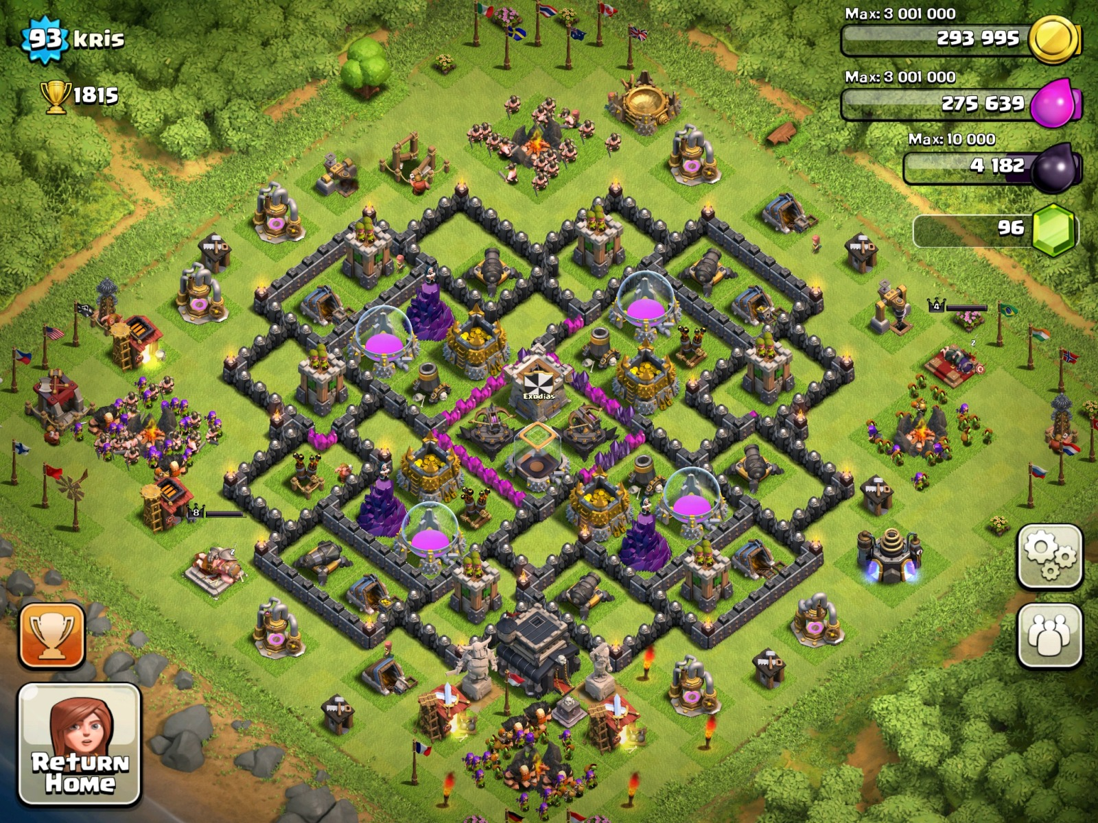 Level 9 town hall layout