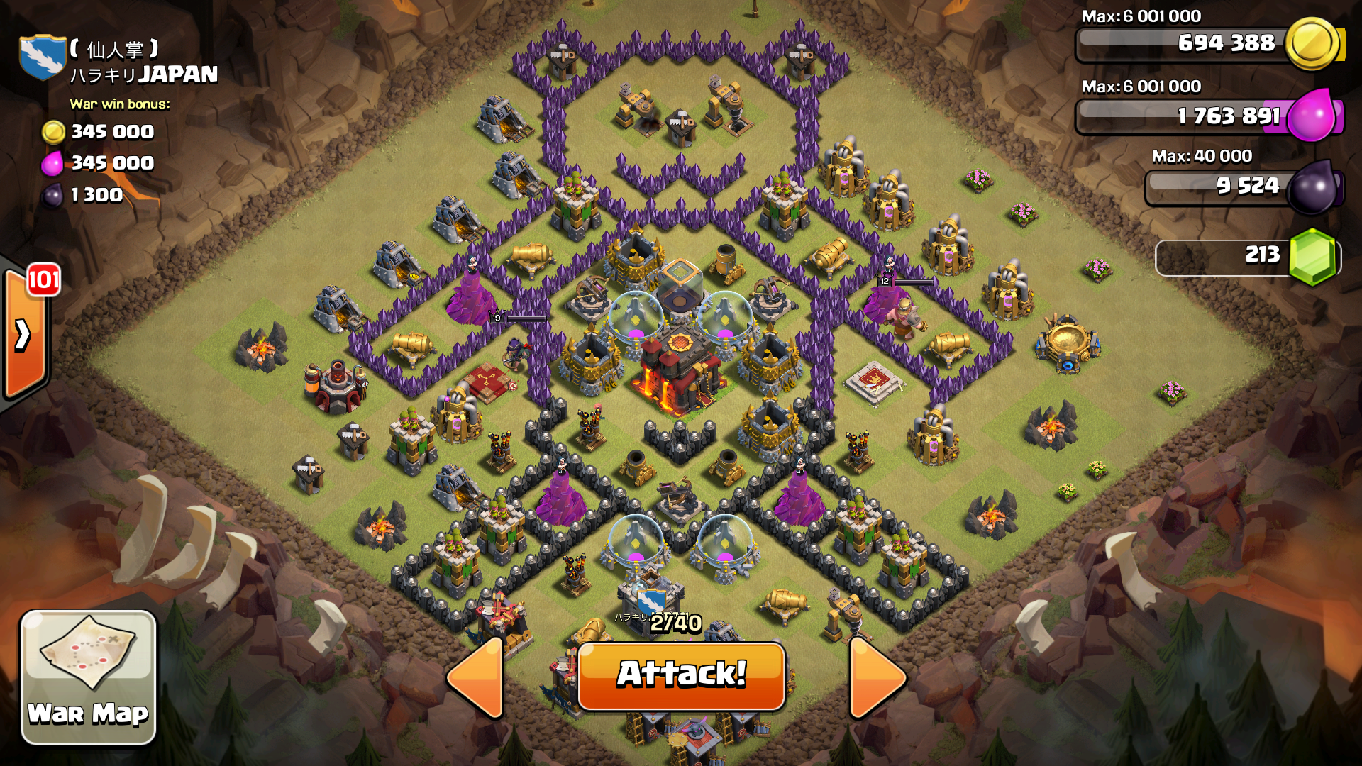 Clash of Clans Town Hall 10 Base War