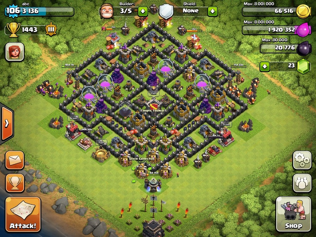 town hall level 9 base